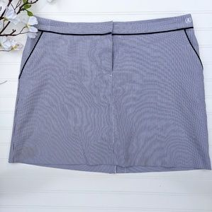 IZOD Blue/White Striped Golf Skirt